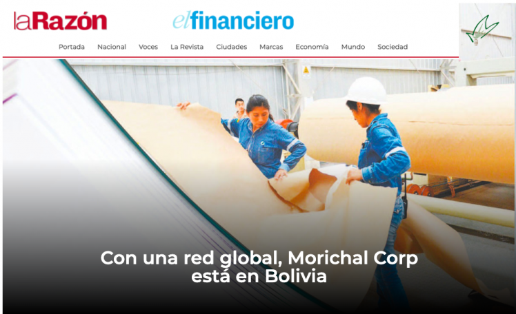With a Global Network, Morichal Corp is in Bolivia!